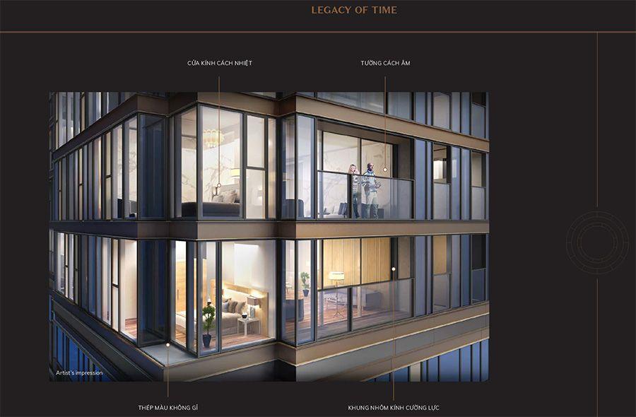 Căn hộ được xây dựng bằng những vật liệu, trang thiết bị siêu cao cấp.