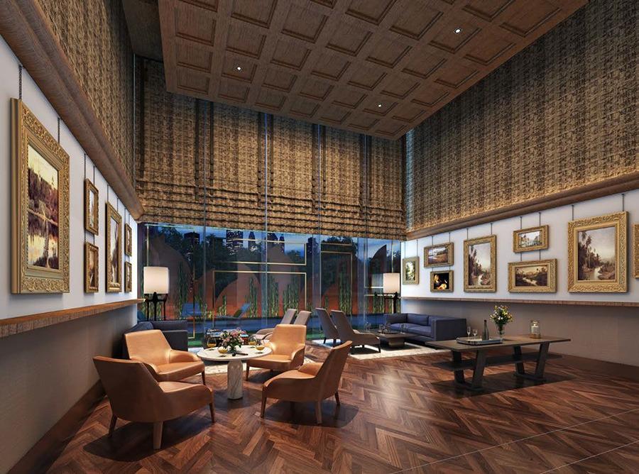 Phòng chờ giành cho cư dân or khách của cư dân tại tòa nhà