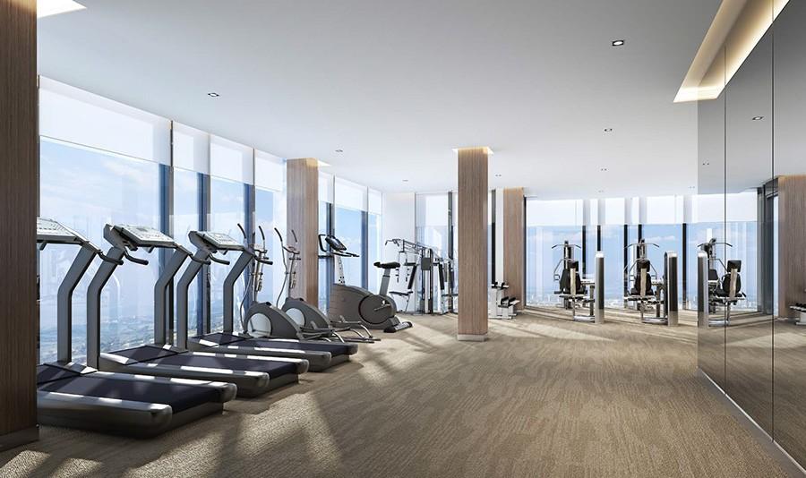 Phòng tập Gym Ascott với những máy tập đạt chuẩn quốc tế, giúp cư dân có những buổi tập chất lượng.