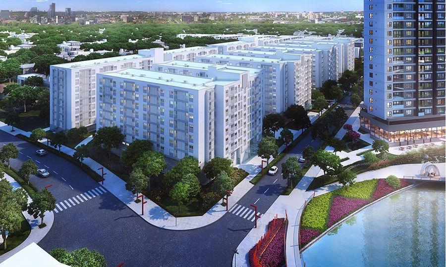 Khu căn hộ Ehome S Nam Sài Gòn nằm trong dự án Mizuki Park.