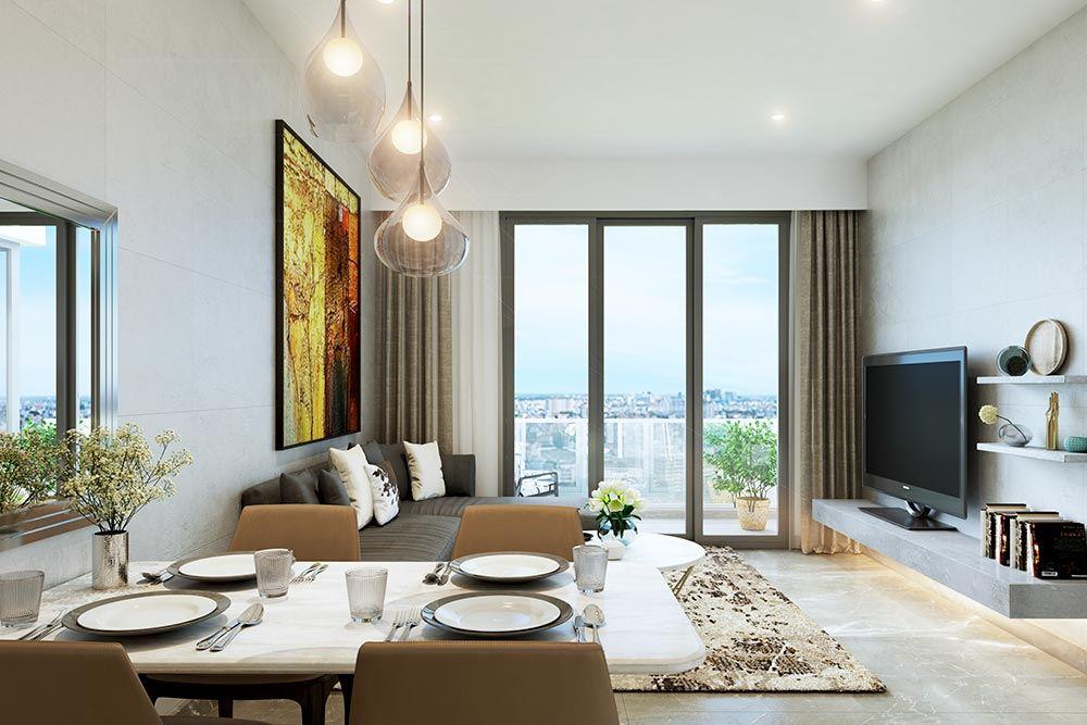 Không gian nào của căn hộ cũng đề cao yếu tố thiên nhiên