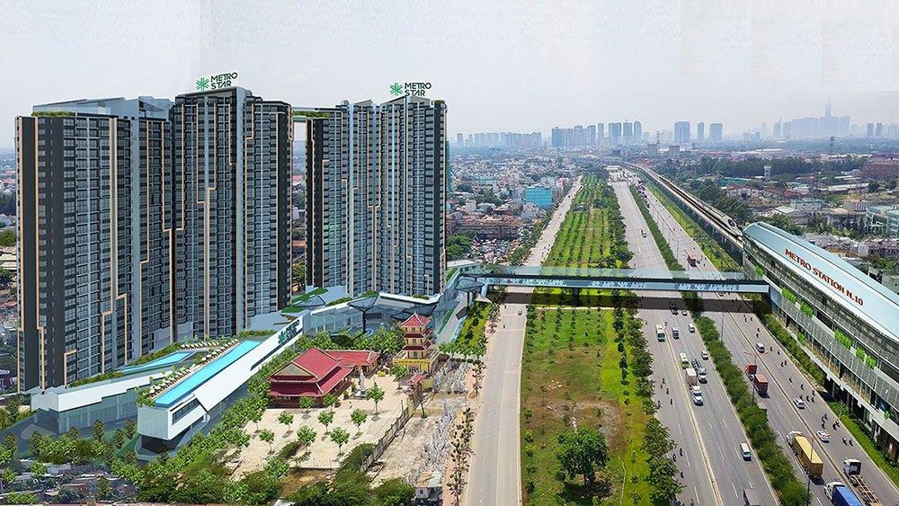 Dự án Metro Star nằm trên mặt tiền Xa Lộ Hà Nội, Quận 9, TP HCM