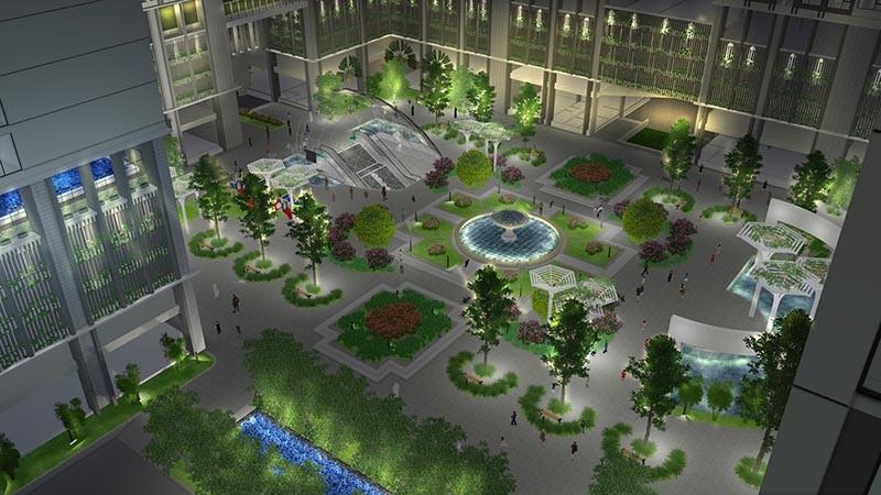 Không gian xanh đến từ nội khu của dự án Eco Green Sài Gòn