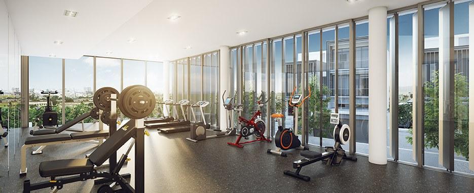 Phòng Gym tại khu biệt Holm Thảo Điền.
