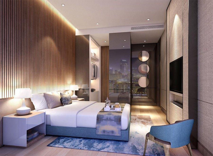 Hình ảnh mẫu thiết kế căn hộ 2 phòng ngủ.
