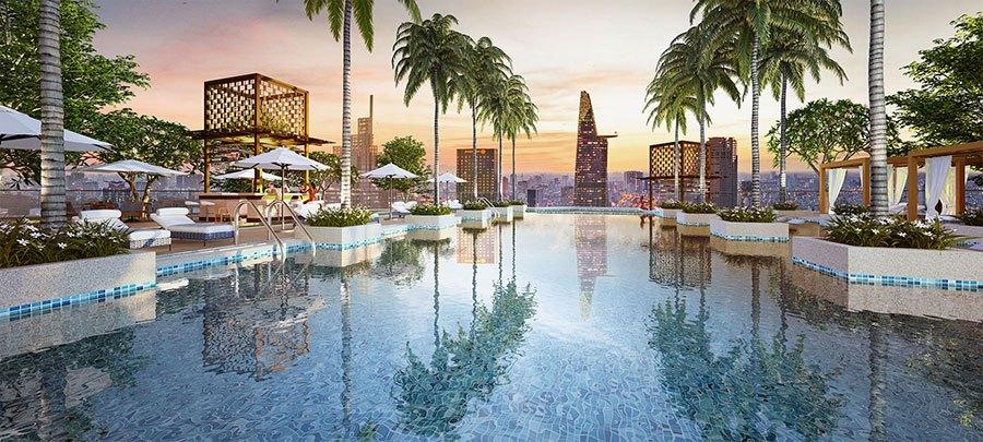 Veranda Resort với hơn 30 tiện ích tiêu chuẩn resort 5 sao của Alpha Hill ngay trung tâm thành phố.