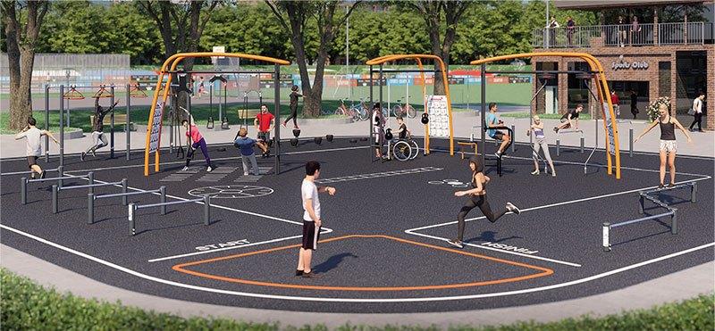 Công viên Gym ngoài trời hiện đại, rộng lớn tại Vinhomes Grand Park với quy mô lên tới hơn 800 máy tập, là nơi rèn luyện sức khỏe, nâng cao thể chất lý tưởng cho mỗi thành viên trong gia đình, giúp tái tạo năng lượng cuộc sống.
