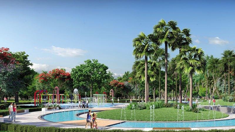 Công Viên Sân Chơi Nước - nơi các cư dân nhí có thể vui đùa thỏa thích cùng nước.