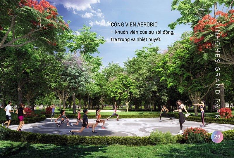 Công viên Aerobic, khuôn viên của sự sôi động, trẻ trung và nhiệt huyết.