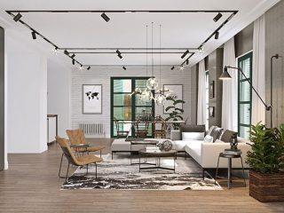 Phòng khách căn hộ được thiết kế sang trọng