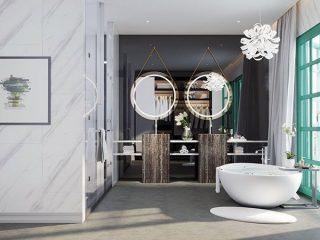 Phòng WC được thiết kế tinh tế.