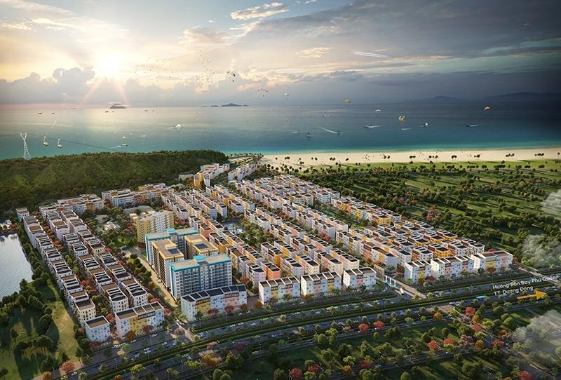 Tổng thể khu đô thị với quy mô lên đến 35ha nằm gần bãi Đất Đỏ và các khu đô thị nghỉ dưỡng nổi tiếng của SunGroup.