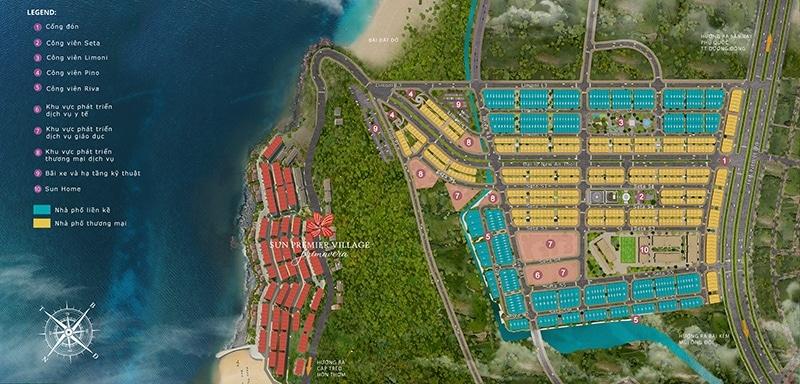 Mặt bằng tổng thể khu đô thị Nam Phú Quốc của SunGroup